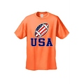 Men's T-Shirt USA Flag Football Game Pride American Sports Bar Beer Patriotic - Thumbnail 3