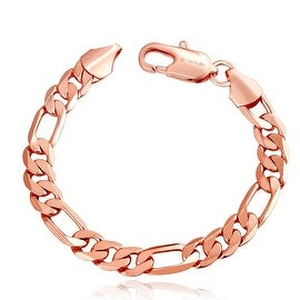 18K Rose Gold Plated Classic Roman Bracelet with Swarovski Elements