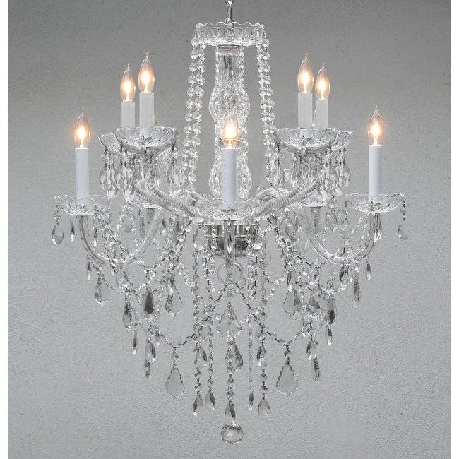 Chandelier Lighting Empress Crystal Chandelier With 10 Lights H30 x W24