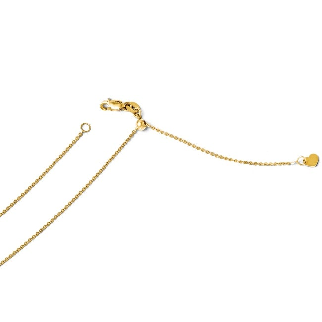 Italian 14k Gold Adjustable Flat Cable Chain - 22 inches