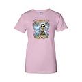 Women's Juniors T-Shirt Amor Inmortal Para Siempre Sugar Skull Katrina Death - Thumbnail 4