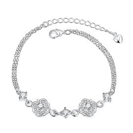 Vienna Jewelry Crystal Jewels Covering Emblem Petite Anklet
