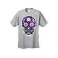 Men's T-Shirt Funny Sugar Skull Purple Galaxy Hipster Day of the Dead Victorian Tee - Thumbnail 3
