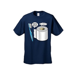 MEN'S T-SHIRT Worst Job in the World TOOTHBRUCH VS TOILET PAPER S-XL 2X 3X 4X 5X