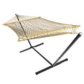 Sunnydaze Caribbean XL Rope Hammock with Spreader Bars - Multiple Colors Availab - Thumbnail 7