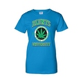 Women's Juniors T-Shirt Blunts Inst. Of Higher Learning Uni. Weed Pot Marijauna - Thumbnail 6