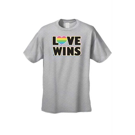 Men's T-Shirt Love Wins Gay Lesbian LGBT Rainbow Flag Pride Homosexual Equality
