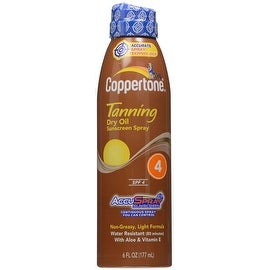 Coppertone 6-ounce Tanning Dry Oil Continuous Sunscreen Spray SPF 4