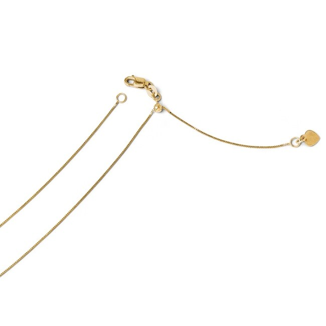 Italian 14k Gold Adjustable .7mm Baby Box Chain - 22 inches