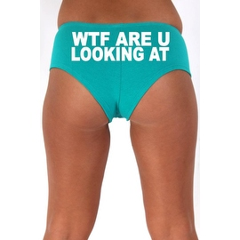 Women's Sexy Hot Booty Boy Shorts WTF Are You Looking At? Block White Bold Style Type Lingerie