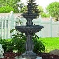 Sunnydaze Two Tier Tulip Solar On Demand Fountain, 36 Inch Tall - Thumbnail 2