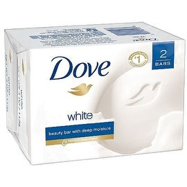 Dove White 4-ounce Beauty Bar Soap White 2 Each