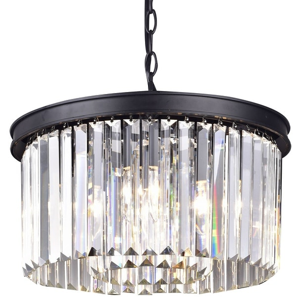 Crystal vintage industrial metal chandelier pendant lamp light