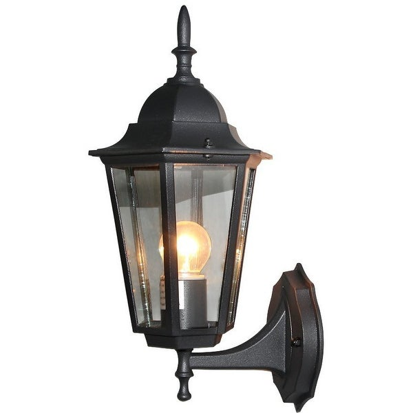 Patio porch exterior lantern wall sconce outdoor black wall lamp light