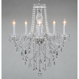 Authentic All Crystal Chandelier Lighting H30 x W24