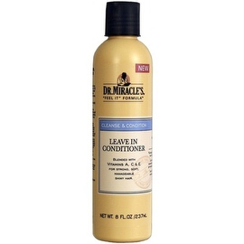 Dr. Miracle's Cleanse & Condition Leave-In Conditioner, 8 oz