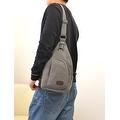 Vintage Canvas Satchel School Military Men's Hiking Shoulder Bag Messenger Bag - Thumbnail 7