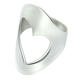 GIG Jewels Fine Sterling Silver Heart Design Love Ring