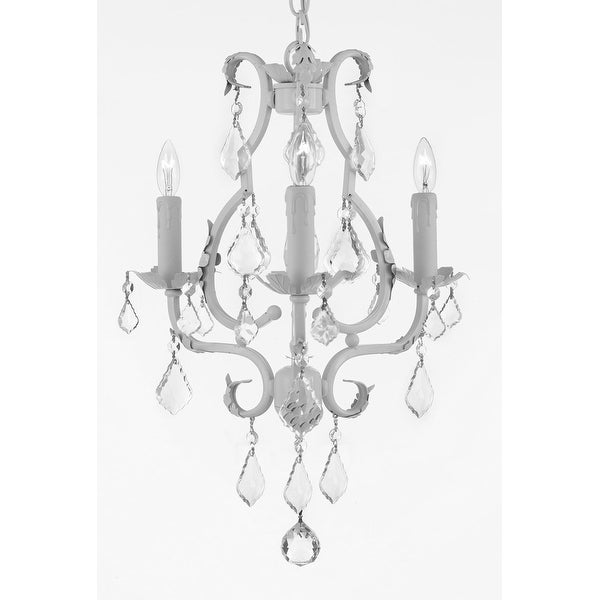Wrought Iron Mini Chandelier Lighting With Empress Crystal Chandelier Lighting