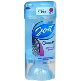 Secret Outlast Clear Anti-Perspirant Deodorant Crystal Clear Gel Clean Powder 2.70 oz