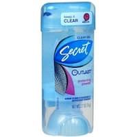 Secret Outlast Clear Anti-Perspirant Deodorant Crystal Clear Gel Clean Powder 2.70 oz