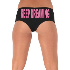 Women's Sexy Hot Booty Boy Shorts Keep Dreaming Block Pink Bold Style Type Lingerie