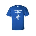 Men's T-Shirt Funny Train Hard Or Go Home Adult Humor Gym Workout Fitness - Thumbnail 2