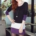 Autumn Winter Women Long Sleeve knit Bodycon Tops Slim Party Sweater Mini Dress - Thumbnail 12
