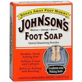 JOHNSON'S Foot Soap Powder Packets 4 Each
