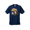 Men's T-Shirt Beautiful Golden Black & Brown Horses Cowboy Rodeo Riding Tee - Thumbnail 2