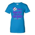 JUNIORS FUNNY T-SHIRT I'm a Good Girl with a Lot of Bad Habits SKULL BOW TEE - Thumbnail 2