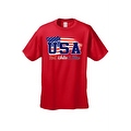 Men's USA Flag T Shirt Distressed Red, White & Blue Pride Old Glory Stars/ Stripes - Thumbnail 4
