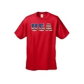 Men's T-Shirt United States of America USA Flag Pride Stars & Stripes Patriotic Tee - Thumbnail 4