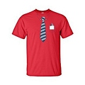 MEN'S BLACK TUXEDO T-SHIRT BLUE TIE COLLAR FRONT POCKET PENS S-XL 2X 3X 4X 5X - Thumbnail 7