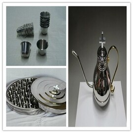 Luxury Design Stainless Steel Communion Tray Includes 1 flagon and 40 cups