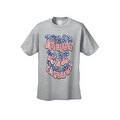 Men's Patriotic T-Shirt Peace Love Freedom Stars & Stripes Patriotic Vet Hippie Tee - Thumbnail 2