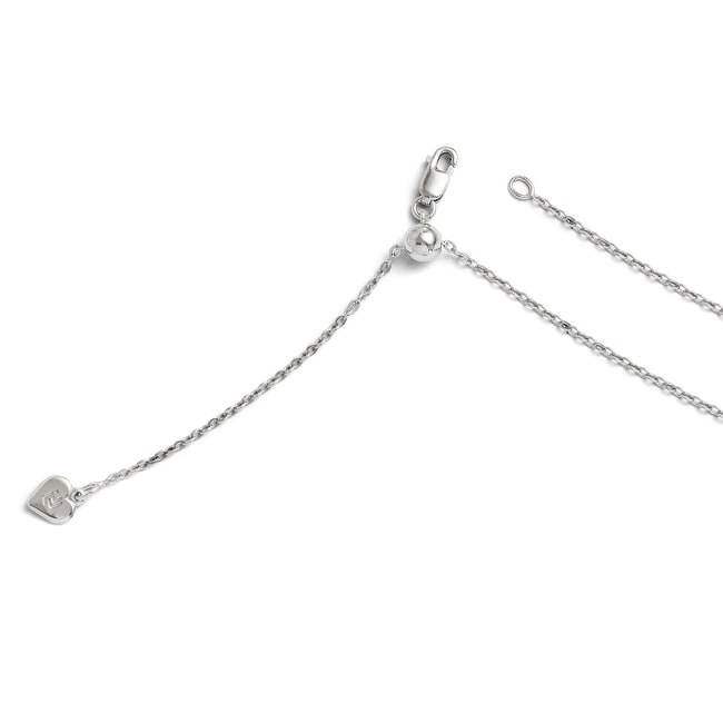 Italian Sterling Silver Adjustable Cable Chain