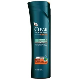 Clear Men 2-in-1 Anti-Dandruff Daily Shampoo & Conditioner, Dry Scalp Hydration 12.9 oz
