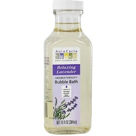 Aura Cacia Aromatherapy Bubble Bath, Relaxing Lavender 13 oz
