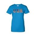 Women's Juniors T-Shirt United States USA Flag American Pride Stars & Stripes Tee - Thumbnail 5
