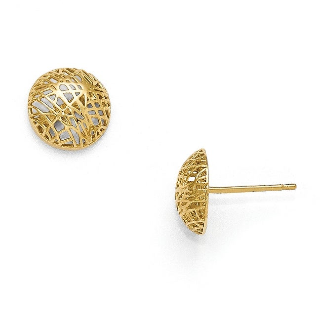 14k Gold Textured Post Earrings