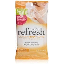 Ban Total Refresh Body Cooling Cloths, Light Citrus Scent 10 ea