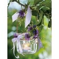 "LED Lighted Tea Candle with Purple Flowers Canvas Wall Art 15.75"" x 11.75"" - Thumbnail 1"