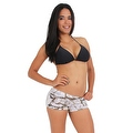 Women's Juniors Camo Hot Shorts Authentic True Timber WHITE - Thumbnail 0