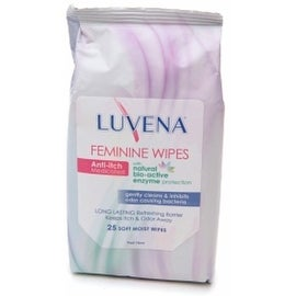 Luvena Anti-Itch Medicated Wipes, Resealable Pack 25 Each