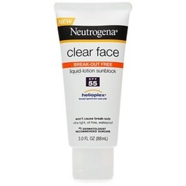 Neutrogena 3-ounce Clear Face Break-Out Free Liquid-Lotion Sunblock SPF 55
