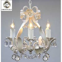 Wrought Iron Floral Chandelier Lighting Crystal Flower Chandelier Lighting