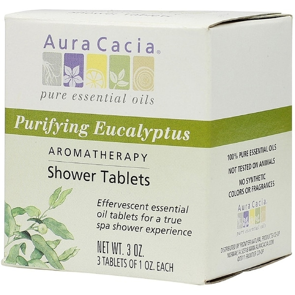 Aura Cacia Aromatherapy Shower Tablets, Purifying Eucalpytus 3 ea