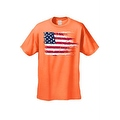MEN'S AMERICAN FLAG T-SHIRT USA Ripped Distressed Flag STARS STRIPES HORIZONTAL - Thumbnail 5