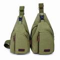 Vintage Canvas Satchel School Military Men's Hiking Shoulder Bag Messenger Bag - Thumbnail 10